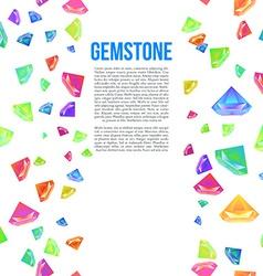 gemstone seamless pattern for presentation vector image