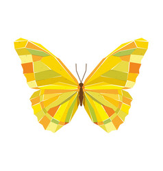 Geometric mosaic butterfly vector