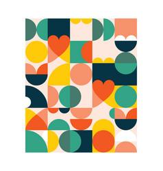 Geometric poster print in 18x24 format vector