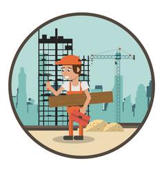 Geometric worker cartoons vector