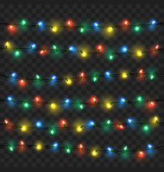 glowing lights for xmas holiday greeting vector image