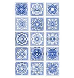 Gorgeous azulejo tile set classic portuguese vector