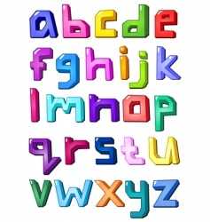 graphic alphabet letters vector image