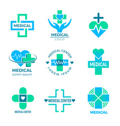Health symbols medical signs for logo clinic vector