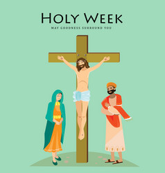Holy week good friday crucifixion jesus and vector