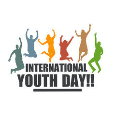international youth day vector image