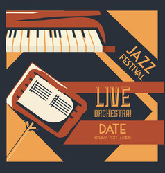jazz festival design vector image