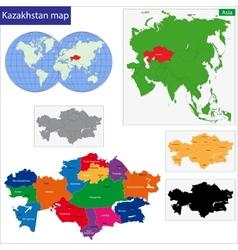 Kazakhstan map vector