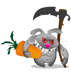 Keeper of carrots vector