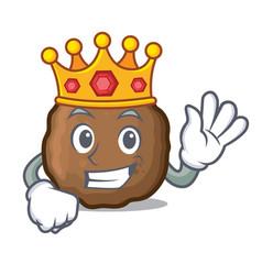 King meatball mascot cartoon style vector