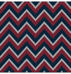 Knitting USA colors pattern sweater battlement2 vector