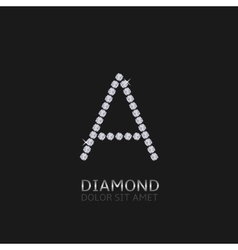 Letter A with gemstones vector