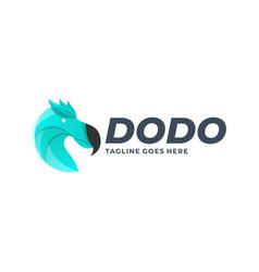 Logo head dodo gradient colorful vector