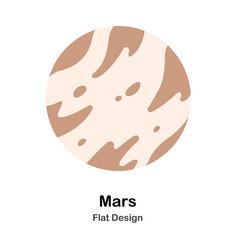 Mars flat vector