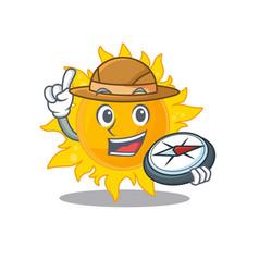 Mascot design concept summer sun explorer with vector