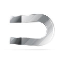 Metal horseshoe magnet vector