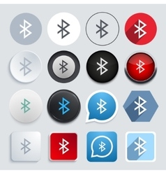 modern bluetooth icons set vector image