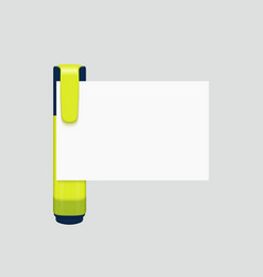 Modern marker with white paper on gray vector