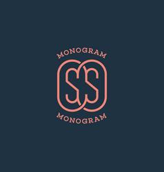 monogram ss vector image