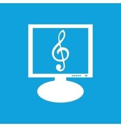Music monitor icon vector