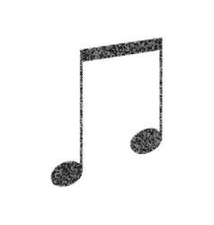 Music sign black icon from vector