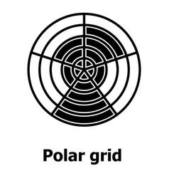 Polar grid icon simple style vector