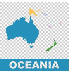 Political map oceania flat vector