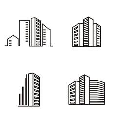 Real estate apartments logo vector
