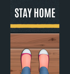 Red shoes standing on a wooden porch vector