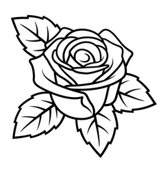 rose sketch 004 vector image