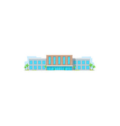 School building education university architecture vector