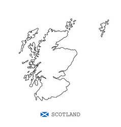 scotland map line linear thin scotland vector image