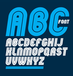 Set rounded bold capital alphabet letters made vector