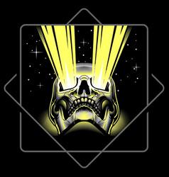 skull ray vector image