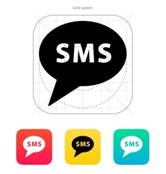 SMS message icon vector