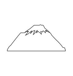 snowy peak mountain travel tourism vector image