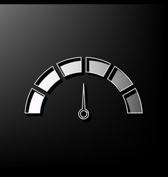 Speedometer sign gray 3d vector