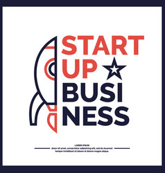 Start up income and success business vector