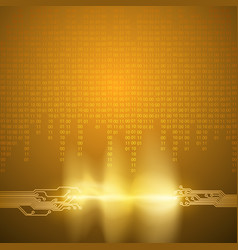 stream of binary code with circuit board texture vector image