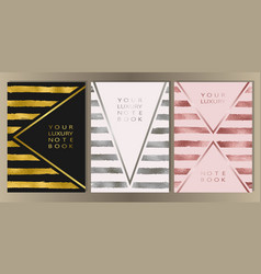 stripe cover set vector image