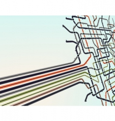 subway network vector image