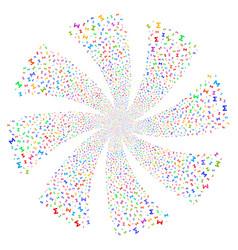Sum fireworks swirl rotation vector