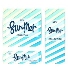 Summer banners trendy volumetric design vector