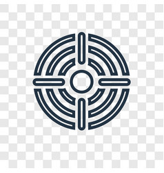 target with circle concept linear icon isolated vector image