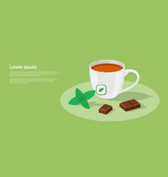 tea and chocolate vector image