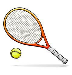 Tennis racquet cartoon vector