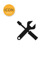 tools icon isolated flat style vector image