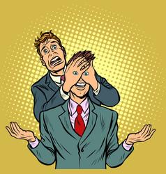 two men a tempting surprise vector image