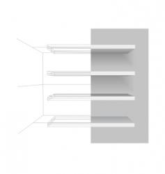 Vector shelves vector