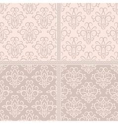 Vintage pastel creamy seamless pattern vector image